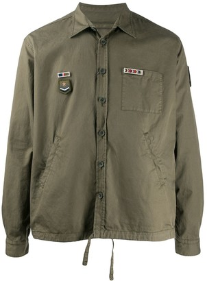 Herno Badge-Applique Boxy Shirt Jacket