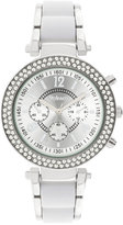 Style&Co. Style & Co Women's White Plastic and Silver-Tone Bracelet Watch 39mm SY040SWH