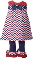 Bonnie Jean Baby Girl Chevron Tunic & Ruffle Leggings Set