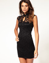 ASOS Lace Body-Conscious Dress with Collar Detail