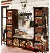 Pottery Barn Samantha 3-Piece Bench & Bookcase Entryway Set, Mahogany Stain