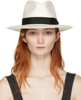 Rag & Bone White Straw Panama Hat