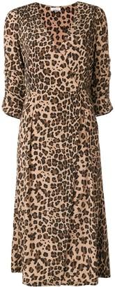 P.A.R.O.S.H. leopard print wrap dress