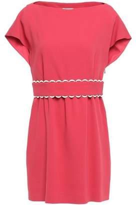 RED Valentino Scalloped Crepe Mini Dress