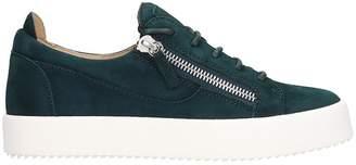 Giuseppe Zanotti Frankie Sneakers In Green Suede