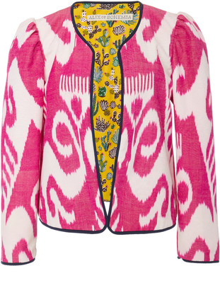 Alix of Bohemia Sly Fox Printed Silk And Cotton-Blend Jacket