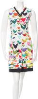 Jil Sander Watercolor Pleated Dress