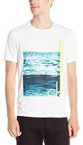 Calvin Klein Jeans Men's the Wave Crewneck T-Shirt, White