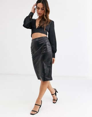 UNIQUE21 PU mini pencil skirt