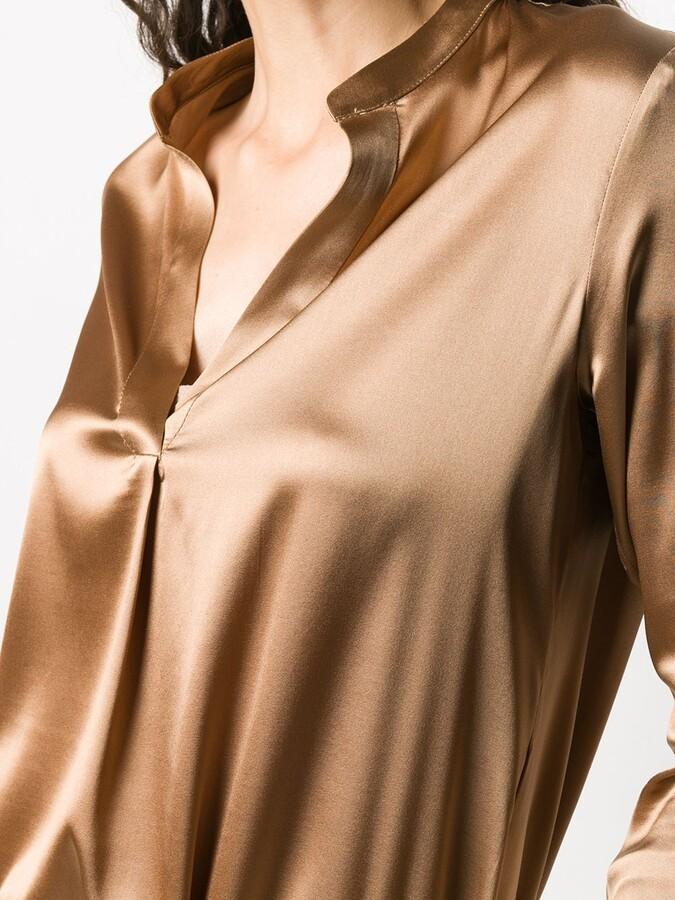 Thumbnail for your product : Blanca Vita Brenda V-neck silk blouse