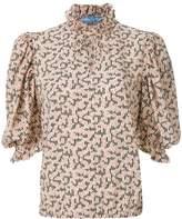 Prada floral print blouse