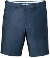 Blue Slim Fit Dobby Cotton Shorts Size 30