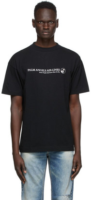 Palm Angels Black Palm Airlines T-Shirt