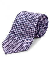 Jaeger Silk Mini Houndstooth Tie