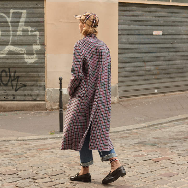 Sandro Checked woolcloth coat