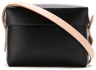 Gloria Coelho Plastic Bag With Leather Straps