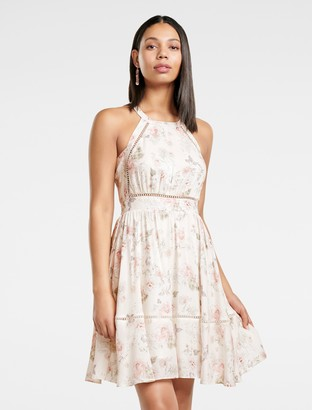 Forever New Florence Tie Back Skater - Water Peony - 14