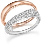 Bloomingdale's Diamond Pave Double Row Band in 14K White and Rose Gold, .35 ct. t.w.