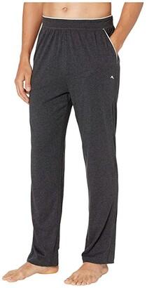 Tommy Bahama Cotton Modal Heather Lounge Pants (Black Heather) Men's Pajama
