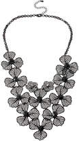 JCPenney MIXIT Mixit Black Wildflower Lace Necklace