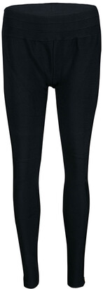 Herve Leger Black Knit Zip Detail Kacie Jeggings M