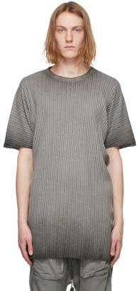 Boris Bidjan Saberi Grey Rib Knit Resin-Dyed One Piece T-Shirt