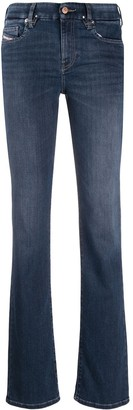 Diesel D-Slandy mid-rise bootcut jeans
