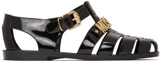 Moschino Black Logo Jelly Sandals