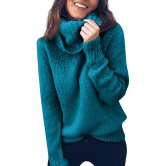 Lazzboy Womens Sweater Jumper Knitted Turtleneck Long Sleeve Ribbed Chunky Tops UK 8-14(S(8)
