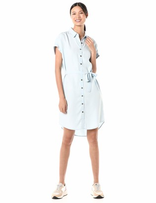 Goodthreads Amazon Brand Women's Oversized Tencel Short-Sleeve Shirt Dress