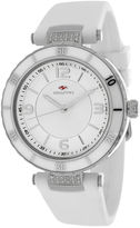 Seapro Womens White Ceramic and Stainless Steel Bracelet Watch