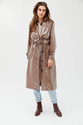 Urban Outfitters Patent Belted Trench Coat