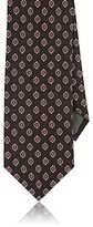 Canali MEN'S MEDALLION-PATTERN SILK-BLEND NECKTIE