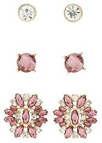 Charlotte Russe Embellished Statement Earrings - 3 Pack
