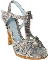 grey snakeskin 'Zola' criss-cross strap heels