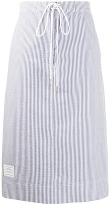 Thom Browne Seersucker Board Short Skirt