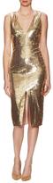 Alice + Olivia Leora Sequin Slit Dress