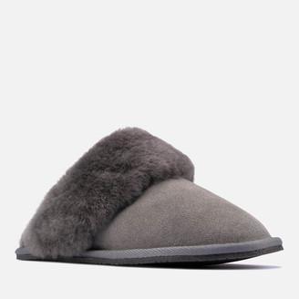 Clarks Women's Warm Lux Suede Mule Slippers