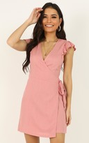 Showpo Over My Shoulder dress in blush - 8 (S) Sale Dresses