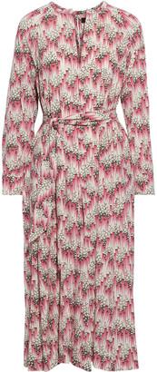 Isabel Marant Lympia Printed Silk-blend Crepe De Chine Midi Dress