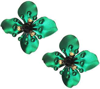 Eye Candy Los Angeles Green Jasmine Resin Drop Earrings