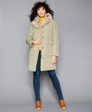 The Fur Vault Fur-Trim Coat