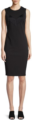 Calvin Klein Collection Fringed Sheath Dress