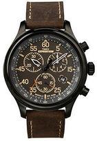 Timex Womens Leather Croco Strap Watch