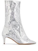 Acne Studios metallic pointed toe boots