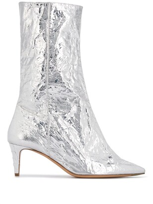 Acne Studios Metallic Pointed Toe Boots