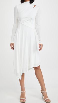 Halston Prisma Long Sleeve Jersey Dress