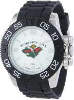 Game Time Men's NHL-BEA-MIN Beast Round Analog Watch