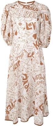 Zimmermann Lined Day linen midi dress