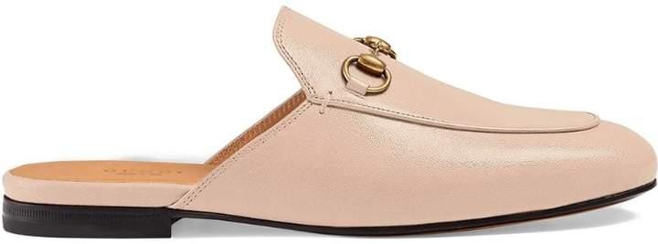 f5a3573bc5ef Gucci Princetown Leather Slippers - ShopStyle